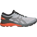 Asics GEL-Kayano 25 Men's Running Shoe - Mid Grey/Red Snapper-Shocking Orange Asics GEL-Kayano 25 Men's Running Shoe - Mid Grey/Red Snapper-Shocking Orange