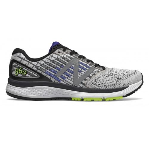 5f10d59089b63 New Balance M860v9 WB 2E WIDE Men's Running Shoe - White/Blue | Sportsmart  | Melbourne's largest sports warehouses