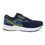 Brooks Adrenaline GTS 19 D Men's Running Shoe - BLACK/BLUE/NIGHTLIFE Brooks Adrenaline GTS 19 D Men's Running Shoe - BLACK/BLUE/NIGHTLIFE