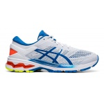 Image 1: ASICS GEL-KAYANO 26 Men's Running Shoe - WHITE/LAKE DRIVE