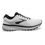 Brooks Ghost 12 D Men's Running Shoe - INJ WHITE/GREY/BLACK Brooks Ghost 12 D Men's Running Shoe - INJ WHITE/GREY/BLACK