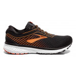Brooks Ghost 12 D Men's Running Shoe - BLACK/TURBULENCE/ORANGE Brooks Ghost 12 D Men's Running Shoe - BLACK/TURBULENCE/ORANGE
