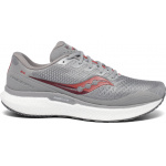 Saucony Triumph 18 D Mens Running Shoe - Alloy/Red Saucony Triumph 18 D Mens Running Shoe - Alloy/Red