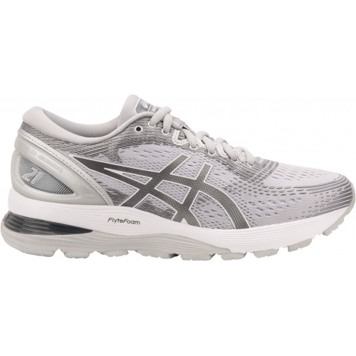 2552c32befb ASICS GEL-Nimbus 21 D WIDE Women s Running Shoe - Mid Grey Silver ...