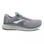 Brooks Glycerin 17 D WIDE Women's Running Shoe - Grey/Aqua/Ebony Brooks Glycerin 17 D WIDE Women's Running Shoe - Grey/Aqua/Ebony