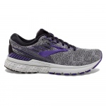Brooks Adrenaline GTS 19 B Women's Running Shoe - BLACK/PURPLE/GREY Brooks Adrenaline GTS 19 B Women's Running Shoe - BLACK/PURPLE/GREY