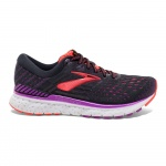 Brooks Transcend 6 B Women's Running Shoe - BLACK/PURPLE/CORAL Brooks Transcend 6 B Women's Running Shoe - BLACK/PURPLE/CORAL
