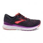 Brooks Transcend 6 B Women's Running Shoe - BLACK/PURPLE/CORAL Brooks Transcend 6 B Women's Running Shoe - BLACK/PURPLE/CORAL