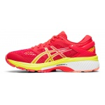 Image 2: ASICS GEL-KAYANO 26 SHINE Women's Running Shoe - Laser Pink/Sour Yuzu
