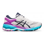 ASICS GEL-KAYANO 26 Women's Running Shoe - White/Peacoat - JULY ASICS GEL-KAYANO 26 Women's Running Shoe - White/Peacoat - JULY