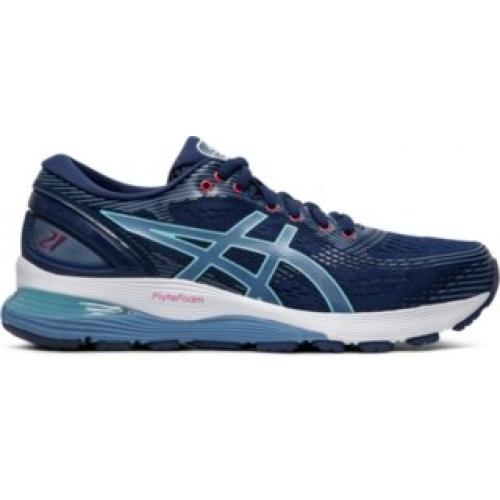 5ad6451ec1 ASICS GEL-Nimbus 21 Women's Running Shoe - Blue Expanse/Grey Floss