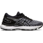 ASICS GEL-Nimbus 22 D WIDE Women's Running Shoe - WHITE/BLACK ASICS GEL-Nimbus 22 D WIDE Women's Running Shoe - WHITE/BLACK