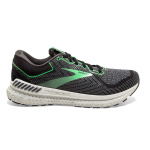 Brooks Transcend 7 Womens Running Shoe - BLACK/EBONY/GREEN Brooks Transcend 7 Womens Running Shoe - BLACK/EBONY/GREEN