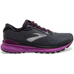 Brooks Adrenaline GTS 20 D WIDE Womens Running Shoe - EBONY/BLACK/HOLLYHOCK Brooks Adrenaline GTS 20 D WIDE Womens Running Shoe - EBONY/BLACK/HOLLYHOCK