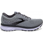 Brooks Ghost 13 B Womens Running Shoe - Grey/Blackened Pearl/Purple Brooks Ghost 13 B Womens Running Shoe - Grey/Blackened Pearl/Purple
