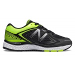 New Balance KJ860v8 NHY W Boys WIDE Running Shoe - Black/Hi-Lite