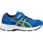 Asics PRE-Contend 5 PS VELCRO Boys Running Shoe - ILLUSION BLUE/LEMON SPARK Asics PRE-Contend 5 PS VELCRO Boys Running Shoe - ILLUSION BLUE/LEMON SPARK