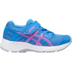 Asics PRE-Contend 5 PS VELCRO Girls Running Shoe - BLUE COAST/HOT PINK Asics PRE-Contend 5 PS VELCRO Girls Running Shoe - BLUE COAST/HOT PINK