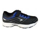 SFIDA Transcend Boys VELCRO Running Shoe - BLACK/ROYAL SFIDA Transcend Boys VELCRO Running Shoe - BLACK/ROYAL