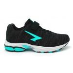 SFIDA Transfuse 2 Girls VELCRO Running Shoe - BLACK/AQUA