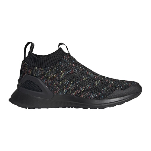 best sneakers 06ec2 930b4 Adidas RapidaRun LACELESS KNIT Kids Running Shoe - Core Black Shock  Cyan Active Red   Sportsmart   Melbourne s largest sports warehouses