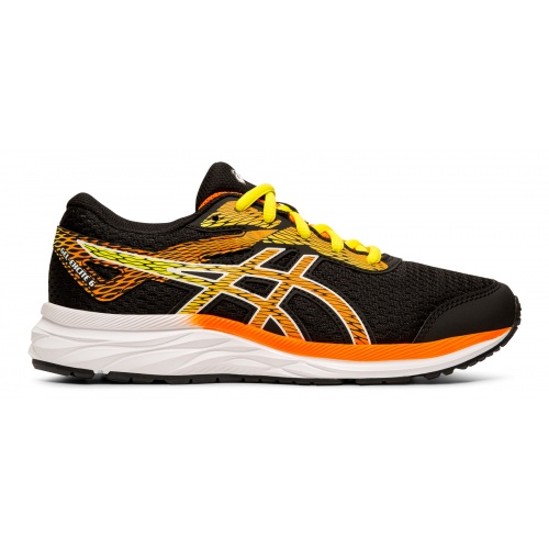 competitive price 270a6 4ed21 ASICS GEL-Excite 6 GS Boys Running Shoe - Black/Shocking Orange