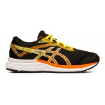 ASICS GEL-Excite 6 GS Boys Running Shoe - Black/Shocking Orange ASICS GEL-Excite 6 GS Boys Running Shoe - Black/Shocking Orange