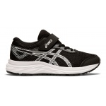 Asics Excite 6 PS VELCRO Boys Running Shoe - BLACK/WHITE Asics Excite 6 PS VELCRO Boys Running Shoe - BLACK/WHITE