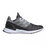 Adidas RapidaRun KNIT Kids Running Shoe - Carbon/Grey Five/GREY TWO - SEP 19 Adidas RapidaRun KNIT Kids Running Shoe - Carbon/Grey Five/GREY TWO - SEP 19