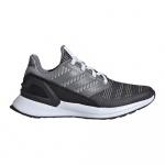 Adidas RapidaRun KNIT EL Kids Running Shoe - Carbon/Grey Five/GREY TWO Adidas RapidaRun KNIT EL Kids Running Shoe - Carbon/Grey Five/GREY TWO