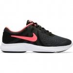 Nike Revolution 4 GS Girls Running Shoe - BLACK/RACER PINK Nike Revolution 4 GS Girls Running Shoe - BLACK/RACER PINK