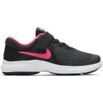 Nike Revolution 4 PS VELCRO Girls Running Shoe - BLACK/RACER PINK Nike Revolution 4 PS VELCRO Girls Running Shoe - BLACK/RACER PINK