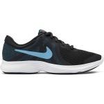 Nike Revolution 4 GS Boys Running Shoe - OFF NOIR/LT CURRENT BLUE Nike Revolution 4 GS Boys Running Shoe - OFF NOIR/LT CURRENT BLUE