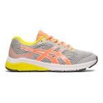 ASICS GT-1000 8 GS Girls Running Shoe - Piedmont Grey/Sun Coral ASICS GT-1000 8 GS Girls Running Shoe - Piedmont Grey/Sun Coral
