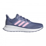Adidas RunFalcon Girls Running Shoe - Raw Indigo/True Pink/Core Black Adidas RunFalcon Girls Running Shoe - Raw Indigo/True Pink/Core Black