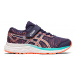 Asics Excite 6 PS VELCRO Girls Running Shoe - Purple Matte/Sun Coral Asics Excite 6 PS VELCRO Girls Running Shoe - Purple Matte/Sun Coral
