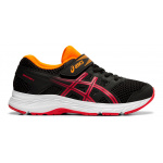 Asics PRE-Contend 5 PS VELCRO Boys Running Shoe - Black/Speed Red Asics PRE-Contend 5 PS VELCRO Boys Running Shoe - Black/Speed Red