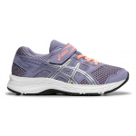 Asics PRE-Contend 5 PS VELCRO Girls Running Shoe - Ash Rock/Silver Asics PRE-Contend 5 PS VELCRO Girls Running Shoe - Ash Rock/Silver