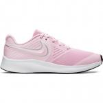 Nike Star Runner 2 Girls Running Shoe - Pink Foam/Metallic Silver-Volt Nike Star Runner 2 Girls Running Shoe - Pink Foam/Metallic Silver-Volt