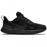 Nike Revolution 5 PS VELCRO Boys Running Shoe - BLACK/BLACK-ANTHRACITE Nike Revolution 5 PS VELCRO Boys Running Shoe - BLACK/BLACK-ANTHRACITE