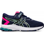 ASICS GT-1000 9 PS VELCRO Girls Running Shoe - Peacoat/Black ASICS GT-1000 9 PS VELCRO Girls Running Shoe - Peacoat/Black
