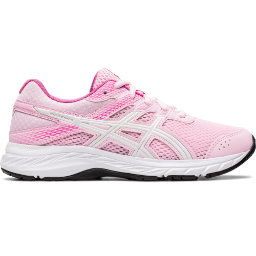 ASICS Contend 6 GS Girls Running Shoe - Cotton Candy/White