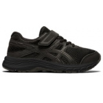 ASICS Contend 6 PS VELCRO Boys Running Shoe - Black/Black ASICS Contend 6 PS VELCRO Boys Running Shoe - Black/Black