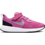 Nike Revolution 5 PS VELCRO Girls Running Shoe - ACTIVE FUCHSIA/METALLIC SILVER Nike Revolution 5 PS VELCRO Girls Running Shoe - ACTIVE FUCHSIA/METALLIC SILVER