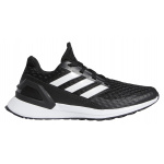 Adidas RapidaRun Boys Running Shoe - Core Black/FTWR White/FTWR White Adidas RapidaRun Boys Running Shoe - Core Black/FTWR White/FTWR White