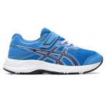 ASICS Contend 6 PS VELCRO Girls Running Shoe - Blue Coast/Peacoat ASICS Contend 6 PS VELCRO Girls Running Shoe - Blue Coast/Peacoat