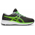 ASICS GEL-Excite 7 GS Boys Running Shoe - Graphite Grey/Green Gecko ASICS GEL-Excite 7 GS Boys Running Shoe - Graphite Grey/Green Gecko