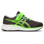 ASICS PRE-Excite 7 PS Boys VELCRO Running Shoe - Graphite Grey/Green Gecko ASICS PRE-Excite 7 PS Boys VELCRO Running Shoe - Graphite Grey/Green Gecko