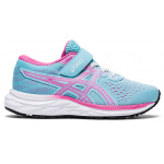 ASICS PRE-Excite 7 PS Girls VELCRO Running Shoe - Ocean Decay/Dragon Fruit ASICS PRE-Excite 7 PS Girls VELCRO Running Shoe - Ocean Decay/Dragon Fruit