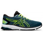 ASICS GT-1000 9 GS Boys Running Shoe - Magnetic Blue/Safety Yellow ASICS GT-1000 9 GS Boys Running Shoe - Magnetic Blue/Safety Yellow
